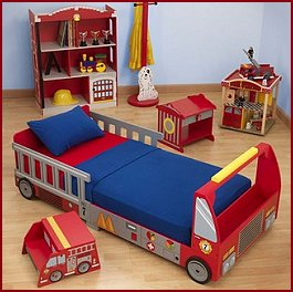 Fire engine bedding fire free engine image for user for Fire truck bedroom ideas