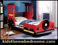 Make bed time fun and exciting for both you and your children with this train shaped twin-size bed. Each side of the bed is designed with an opening that makes it easy and safe to go in and out of the bed.