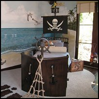 Pirate Themed Bunk Beds http://uniquethemebeds.com/themebeds.html